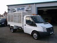 2010 10 FORD TRANSIT 2.4 TDCI 350 DRW 140BHP CAGED TIPPER WITH 69000 MILES CHOIC