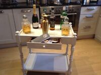 Lively Farrow ball vintage antique drinks trolley table