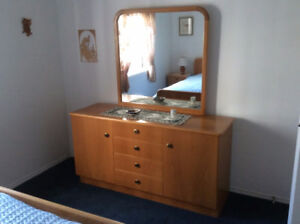 Custom Built Solid Wooden Dresser with Mirror-QUALITY PIECE