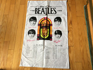 Hits of The Beatles 1962-1969 Cloth Wall Hanging