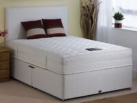 "**1-YEAR-GRNTEE** Brand New 4ft6 Double Divan Bed With 13"" Thick Royal 2000 Pocket Sprung Mattress**"