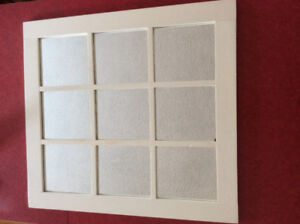 White Wooden Wood Window Frame Style Mirror