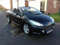 56 Peugeot 307 CC 2.0HDi ( 136bhp ) Coupe Sport. Leather. Low mileage.