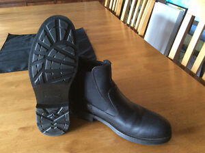 New Mens Black Leather boots Kitchener / Waterloo Kitchener Area image 1