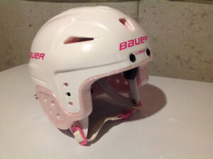 Girls Lil' Sport Bauer hockey helmet.