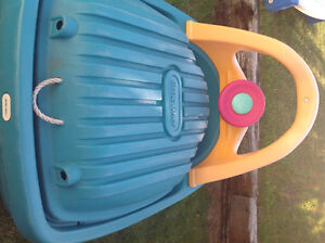 little Tikes sand box, picnic table, basketball net