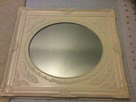 Vintage cream wall mirror from Dunelm