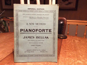 Partition musicaleA NEW method for the PIANOFORTE James bellak