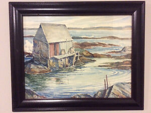 Original framed watercolour painting by Mary Zwicker 1904-1993