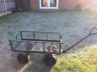 Metal gardening trolley