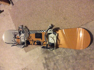 Atomic snowboard, bindings and boots