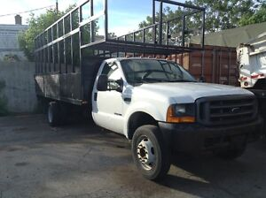 2000 Ford F-450 Flat Deck Cage Truck