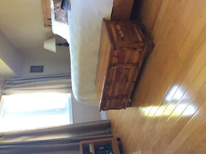 Solid wood blanket box cedar lined