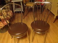 Chrome chairs made in Canada