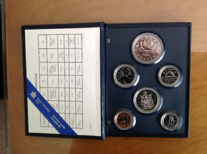 1986 Royal Canadian Mint Proof 6 coin Set in Case