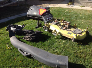 """54"""" mower deck and complete bagging system for John Deere 2305"""