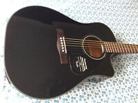 Fender electro acoustic guitar DG60CE BLK with Fishman pickup/preamp/tuner