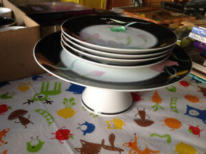 Cake stand with plates and more