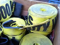 5000lb tie down straps and sliding winches