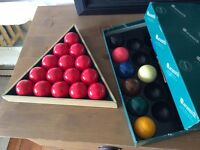 Set of snooker and billiard balls