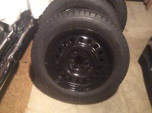 215/60r17 Hankook iPike Rsv Winter Tires and rims.