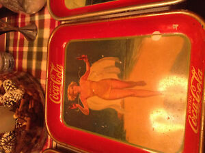 RARE 1937 ORIGINAL NOT REPRODUCTION , COKE SERVING TRAY Cambridge Kitchener Area image 1