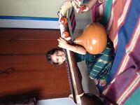 Carnatic music class.  Online