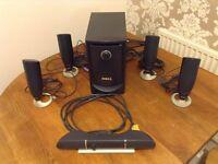 Dell 5.1 Surround Sound System, 100W sub, mint