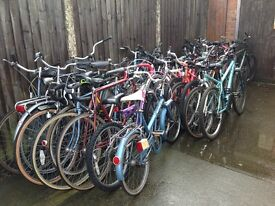 Large selection of secondhand bikes serviced ready to ride