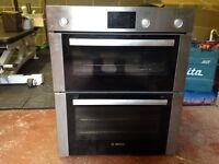 SOLD - Bosch Double-under oven and 5 burner cast-iron gas hob