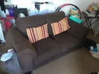 Good quality brown 3 person ikea sofa