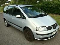 2001 LEFT HAND DRIVE SEAT ALHAMBRA, 6 SPEED GEARBOX, 12 MONTHS MOT, NEW CAMBELT, REGULAR SERVICED