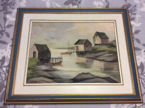 "Liz Wilcox original oil on board painting ""Peggy's Cove"""