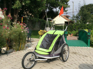 Child trainer/bike trailer double for sale