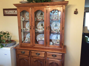 Maple Hutch and Buffet