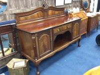 Antique Ornate Sideboard / Large / Free Glasgow Delivery