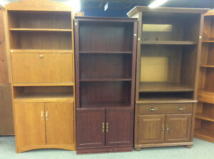 Large Selection - Various Bookcases and Entertainment Units