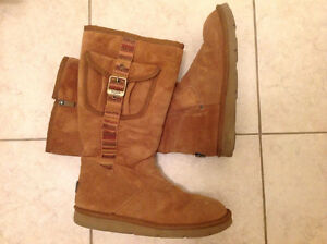 UGG Authentic Retro Cargo Boots - Chestnut - Size 8 Women's