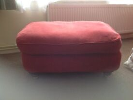 Antique foot stool, complete with interchangeable cover,