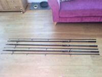 Greys Prodigy Carp Rods x3- 12ft 3.5lb T/c Fishing Rods