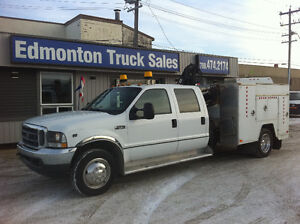 2004 Ford F-450 XL CREW CAB SERVICE BODY PICKER/WINCH