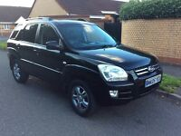 Kia Sportage 2,0 XE 4wd 2005 05 plate black leather trim manual snow is on the way