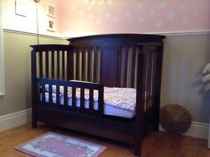 Solid wood crib, toddler bed, double bed