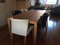 Habitat Large Radius Table (solid oak)