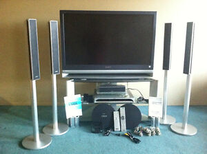 Sony LCD projection TV &  home theatre with DVD player