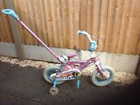 Girls bike with parent steering hahdle