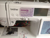 Embroidery Sewing Machine with New Threads
