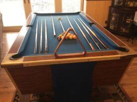 Proper pub pool table