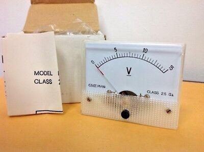 Vintage Electronic 0-15 Volt Meter Gme Pm89