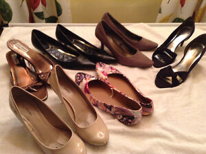 Six Pairs Woman's shoes - 9,9.5 & 10